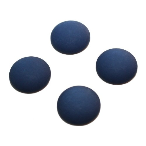 Cabochon Polaris rund flach matt nacht - blau 18mm 4 Stück