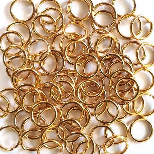 Bindering Edelstahl Spaltring Biegering offen gold 6mm 50Stk.