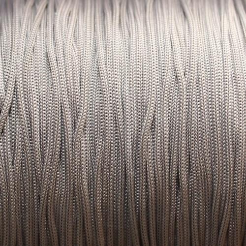 Nylonfaden Makramee geflochten 0,8mm grau 5m lang