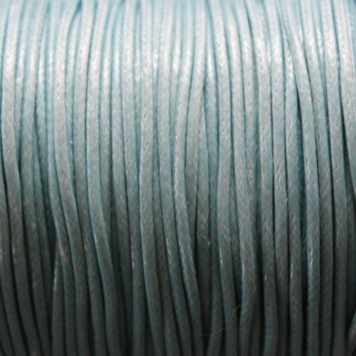 Wachsband gewachstes Baumwollband 2mm hell blau 5 m lang