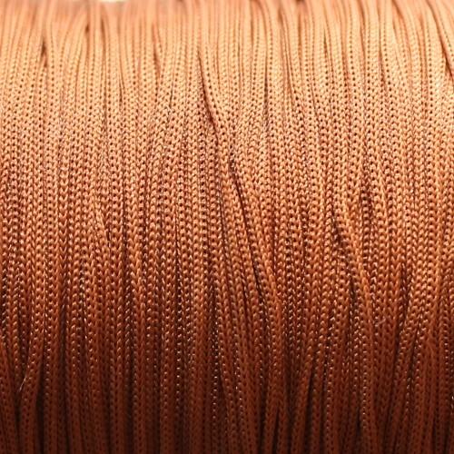 Nylonfaden Makramee geflochten 0,8mm braun 5m lang
