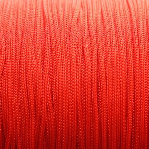 Nylonfaden Makramee geflochten 0,8mm rot 5m lang