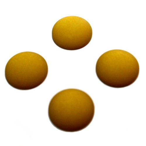 Cabochon Polaris rund flach matt kiwi 14mm 4 Stück