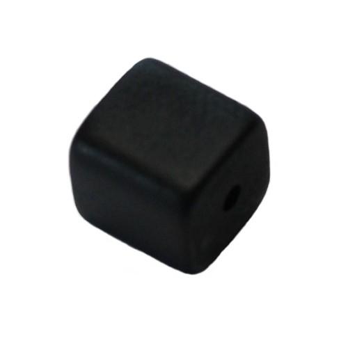 Polaris Perle Würfel matt schwarz 10x10mm 1 Stk.