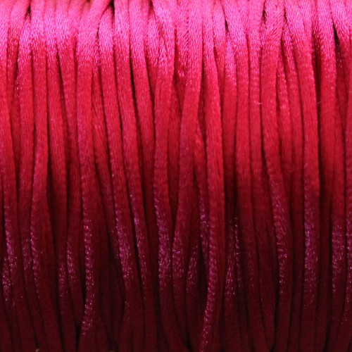 Seidenband Nylonfaden 2mm violett 5 m lang