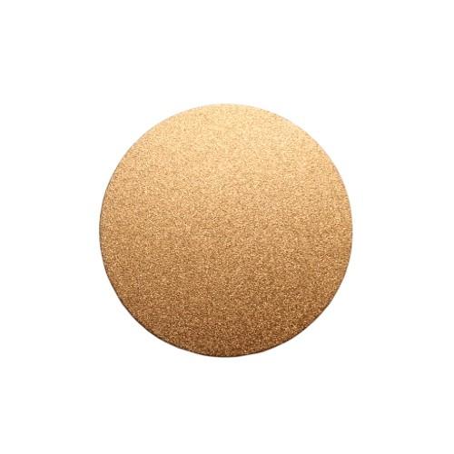Metallplatte Aluminium Scheibe Kreis rose - gold gebürstet 6cm 1 Stück