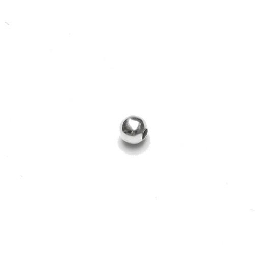Metallperle Spacer Kugel glatt versilbert 4mm 100Stk.