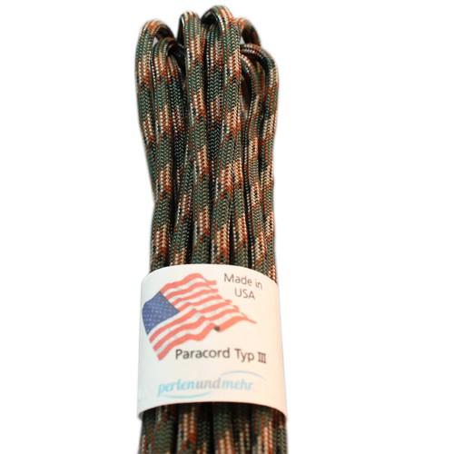 Paracord - perlenundmehr - original amerikanisch TypIII Farbe Wood camo 15 m