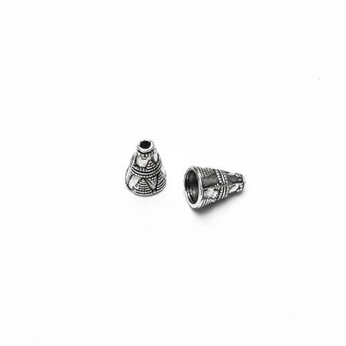 Metallperle Endkappe Perlenkappe Trichter Kegel Antiksilber 11x9mm 6Stk.