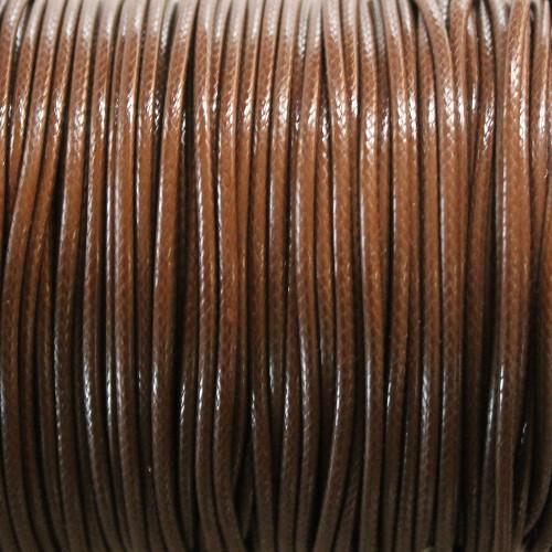 Wachsband gewachstes Baumwollband 2mm dunkel braun 5 m lang