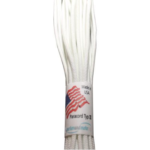 Paracord - perlenundmehr - original amerikanisch TypIII Farbe weiß 4mm