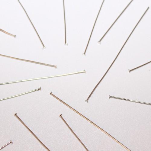 Nietstifte/Kettelstifte/Prismenstifte mit Flachkopf silber 78x0,7mm 30Stk.