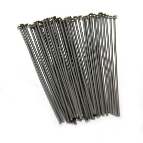 Nietstifte/Kettelstifte/Prismenstifte mit Flachkopf Edelstahl silber 40x0,7mm 40Stk.