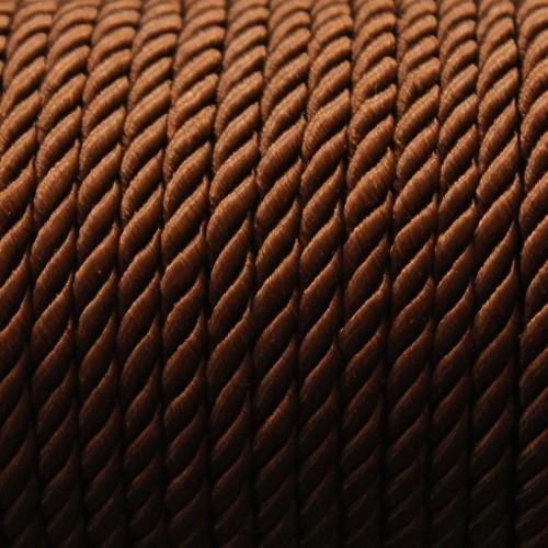 Kordel geflochten 5mm braun 200 cm lang