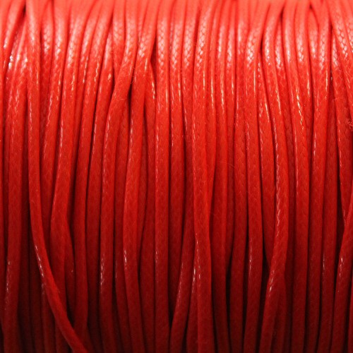 Wachsband gewachstes Baumwollband 2mm rot 5 m lang