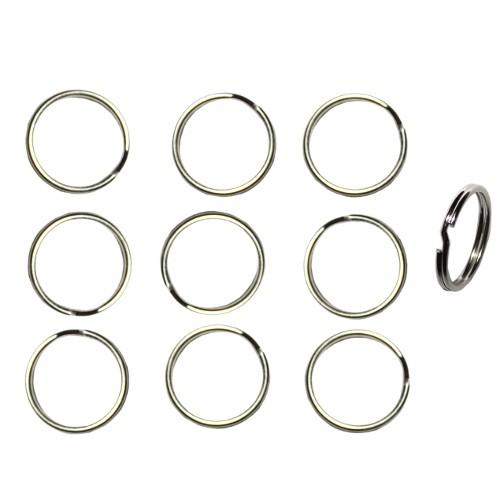 Federring Schlüsselring Spaltring Biegering Bindering Stahllegierung offen silber 20mm 20Stk.