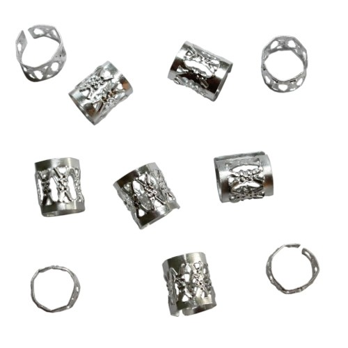 Aluminium Endkappe Tube offen silber 10x8,5mm 10Stück