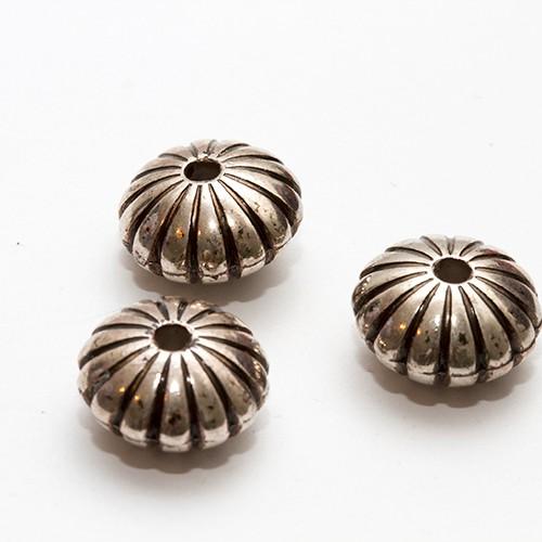Metalloptik Perle Rondelle Antiksilber 13x8mm 10Stk.