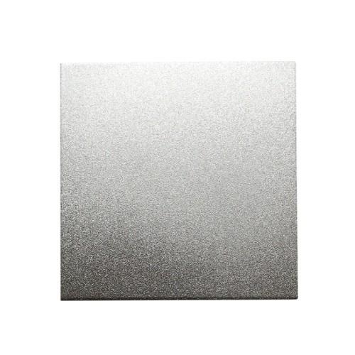 Metallplatte Aluminium Quadrat silber gebürstet 7 x 7cm 1 Stück