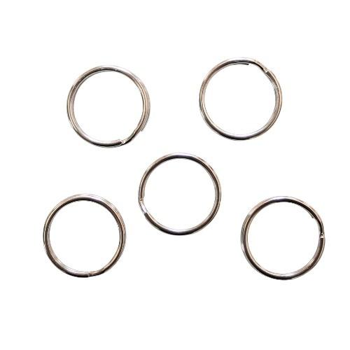 Federring Schlüsselring Edelstahl Spaltring Biegering Bindering offen silber 15mm 5Stk.