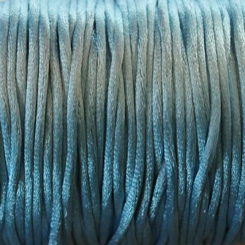 Seidenband Nylonfaden 2mm türkis 5 m lang