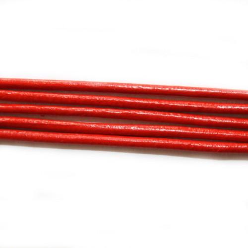 Lederband echt Leder glatt rot 2mm 2m lang