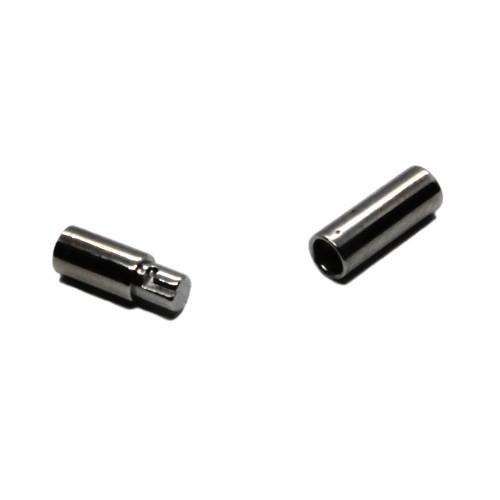 Steck- und Dreh Verschluß Edelstahl rund silber 18x3,8mm für 3mm 1Stk.