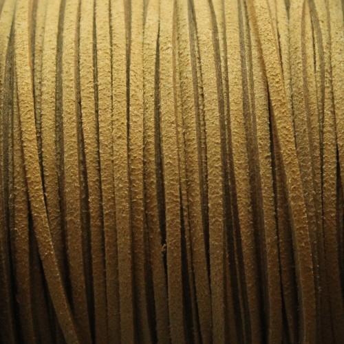 Wildlederimitat weich flach 3x1,5mm Microfaser grün 5 m lang
