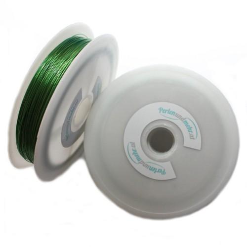 Stahldraht Nylonummantelt Stahlseide grün 0,38mm 70m lang