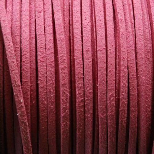 Wildlederimitat weich flach 3x1,5mm Microfaser hell lila 5 m lang