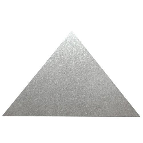 Metallplatte Aluminium Dreieck silber gebürstet 8 x 5 cm 1 Stück