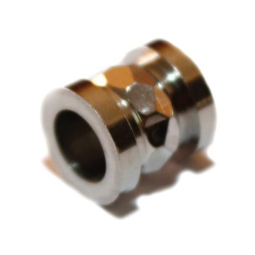 Metallperle Edelstahl Tube silber Großloch 10x10mm 1Stk.