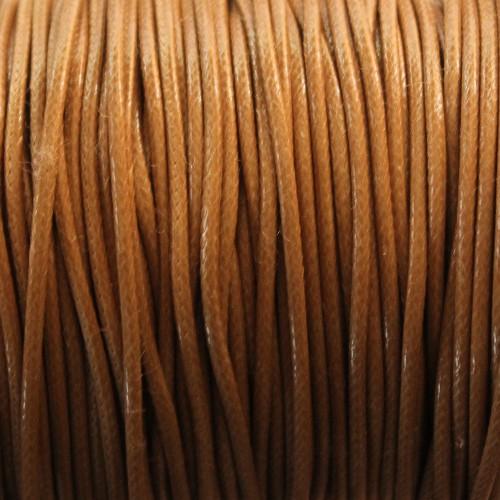 Wachsband gewachstes Baumwollband 2mm beige 5 m lang