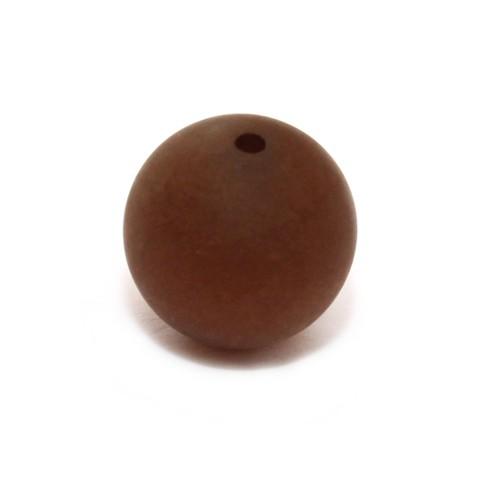 Polaris Perle Kugel matt dunkel-braun 10 mm 1 Stk.