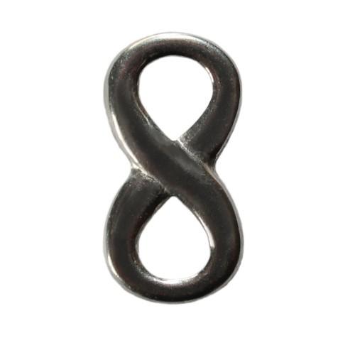 Edelstahl Verbinder Infinity Unendlichkeit silber klein 21x11mm 1Stk.