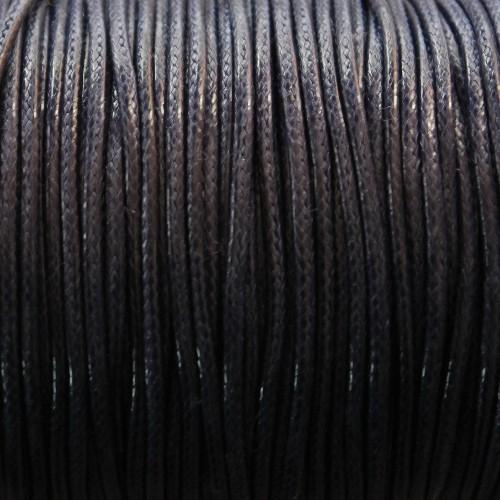 Wachsband gewachstes Baumwollband 2mm dunkel blau 5 m lang