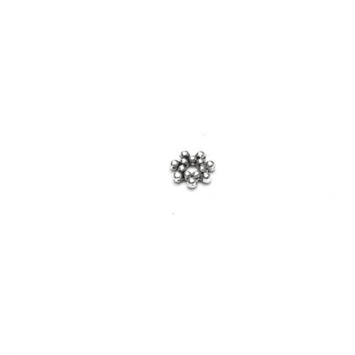 Metallperle Spacer Rondelle Blume Stern Antiksilber 6,5x1,7mm 20Stk.