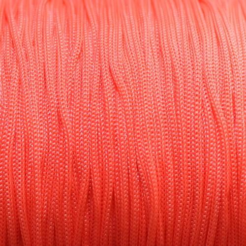 Nylonfaden Makramee geflochten 0,8mm neon pink 5m lang