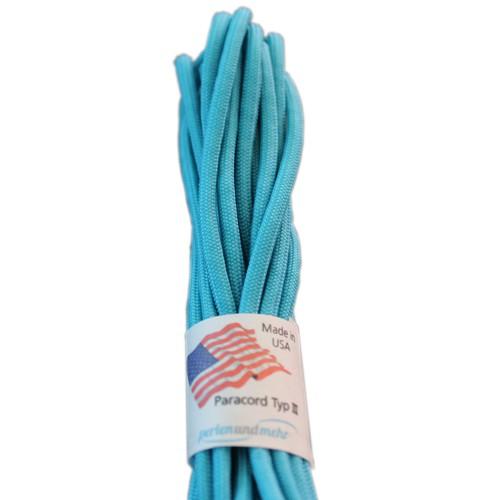 Paracord - perlenundmehr - original amerikanisch TypIII Farbe türkis neon