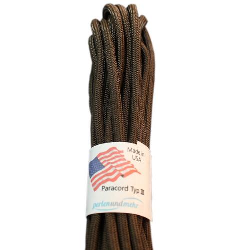 Paracord - perlenundmehr - original amerikanisch TypIII Farbe dunkel - braun