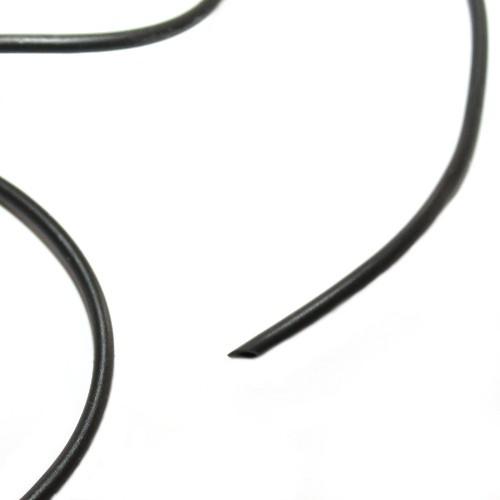 Kautschukband 2,5mm mit Loch 1mm schwarz 200cm lang