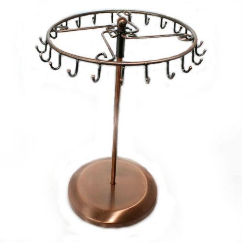 Schmuckständer drehbar zur dekorativen Schmuckpräsentation Kupfer 30,5 x 21 cm 1 Stk.