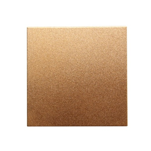 Metallplatte Aluminium Quadrat rose - gold gebürstet 5 x 5cm 1 Stück