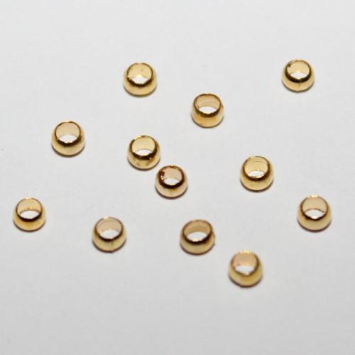 Metallperle Quetschperle Crimp Kugel vergoldet 2,5mm 100Stk.