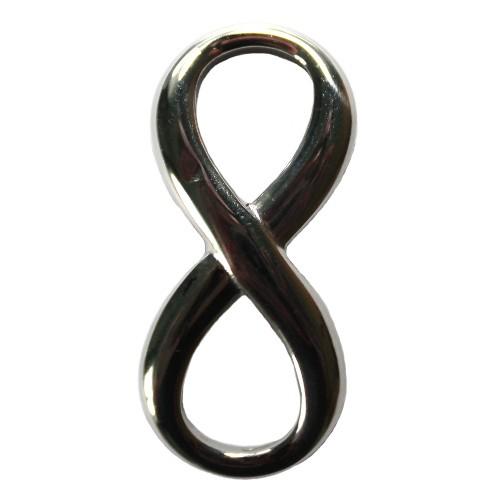 1 Unendlichkeit Symbol infinity Strass Verbinder Verschluss Silber