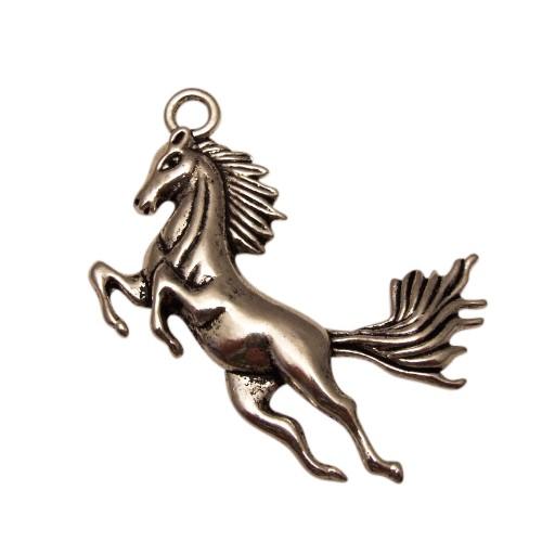 Metallanhänger Pferd Antiksilber 43x50mm 1Stk.