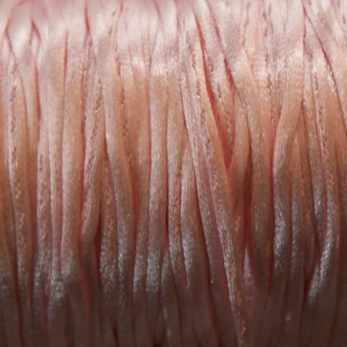 Seidenband Nylonfaden 2mm rosa 5 m lang