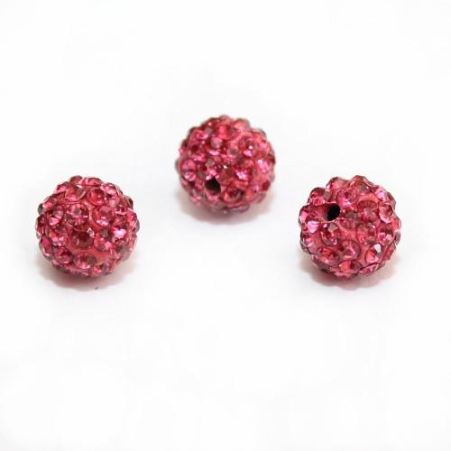 Shamballa 10 mm Kugel pink 1Stk.