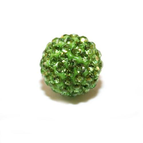Shamballa 14 mm Kugel mint grün 1Stk.