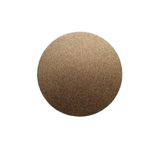 Metallplatte Aluminium Scheibe Kreis gold gebürstet 6cm 1 Stück